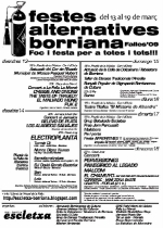 Festes Alternatives de Borriana tiene el programa para fallas preparado